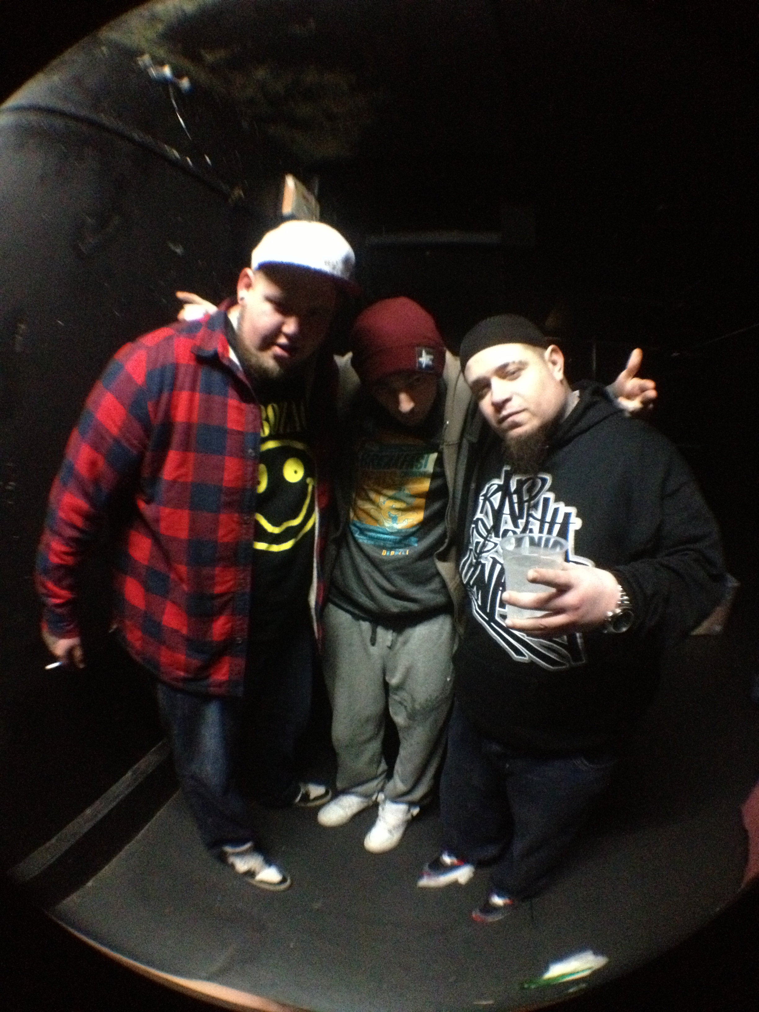l-r: Rag 'N' Bone Man, Leaf Dog, Vinnie Paz