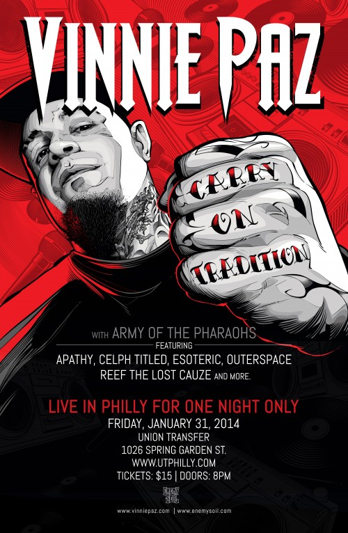 Vinnie Paz Army of the Pharaohs Philly show